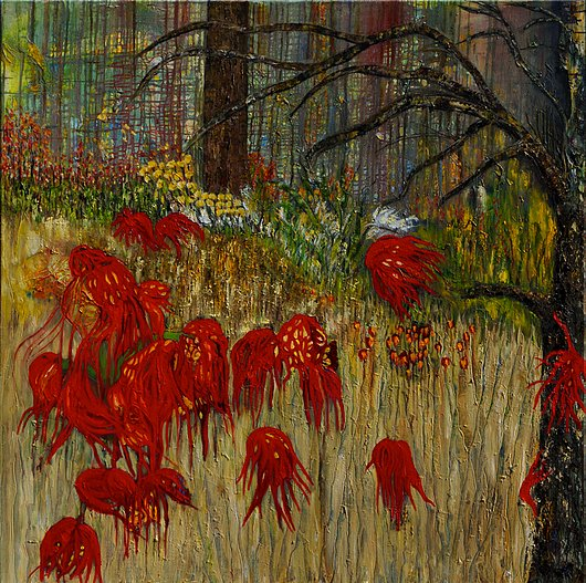 Creeping Flowers In The Forest Melody Brown Art